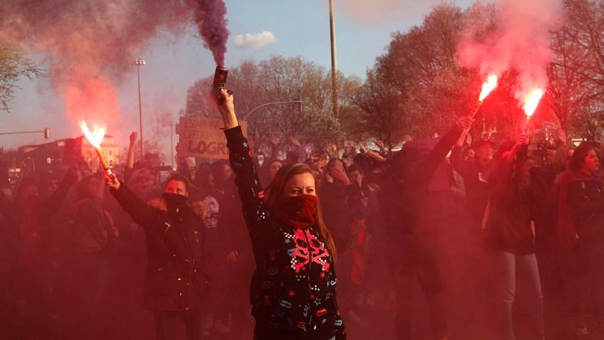 APTOPIX Spain International Women's Day