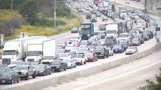 Traffic on I-805 caused by a deadly accident.