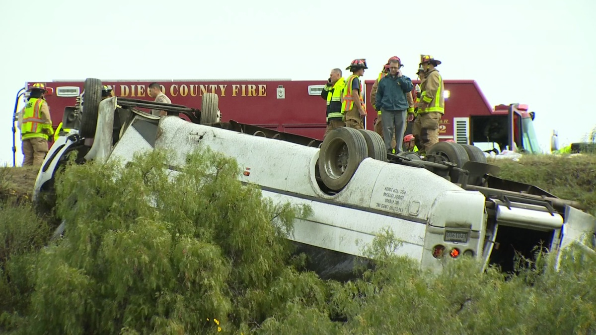 3rd Victim in Deadly Rollover Bus Crash on I-15 Was Ejected: ME