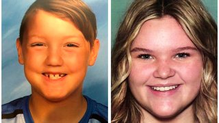"""These two undated file photos released by the National Center for Missing and Exploited Children show Joshua """"JJ"""" Vallow, left, and Tylee Ryan. The children's mother Lori Vallow, also known as Lori Daybell, was arrested in Hawaii after refusing to cooperate with officials' requests for information about the children's whereabouts."""