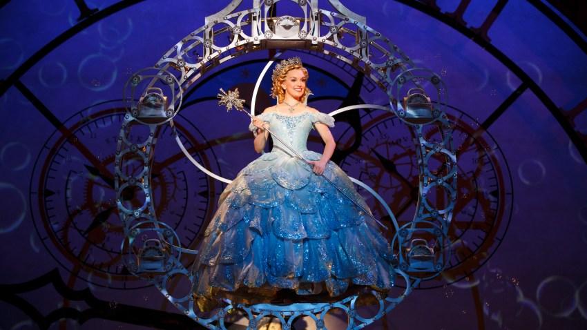 Kara Lindsay as Glinda (Photo by Joan Marcus)