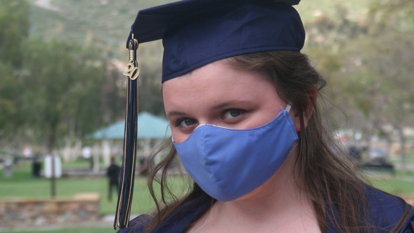 Senior pictures with mask