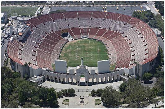 LA Coliseum Aerial