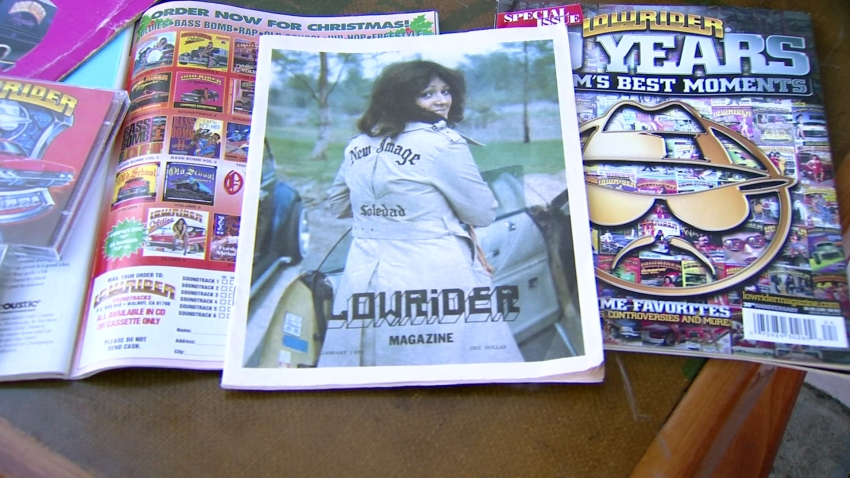 A picture of Lowrider Magazines throughout the years