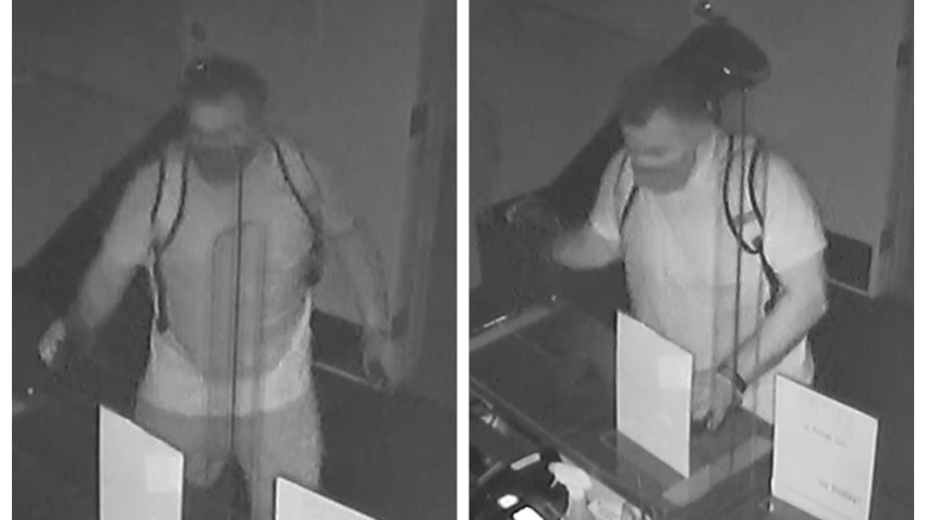 Authorities are searching for a man who stole nine firearms from a La Mesa gun store on May 30, 2020.