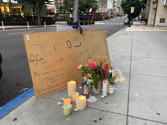 Leo Memorial in Downtown San Diego