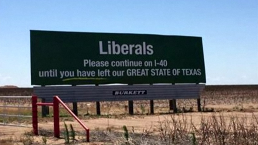 Liberal billboard - MADISON OWENS/CR 704-733-6149 NC - taken by viewer ugc