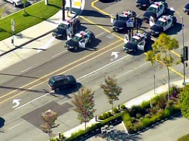 Live Video Police Pursuit in South LA