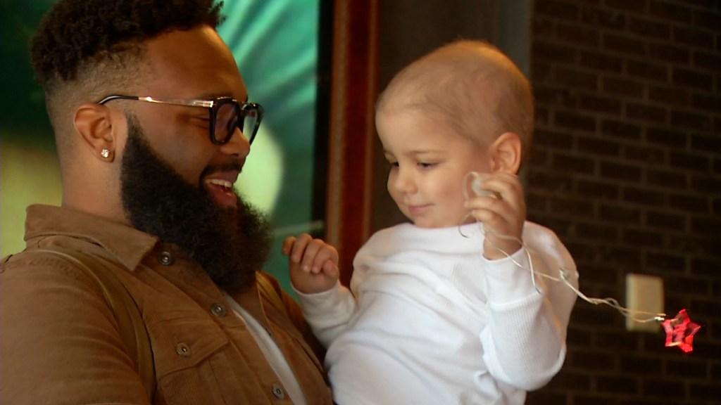 Cancer patient meets singer blanco brown
