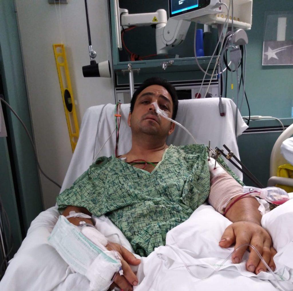 Mario Rojas in Hospital Church's Chicken Shooting survivor