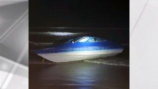 Boat found ashore Coronado state Beach