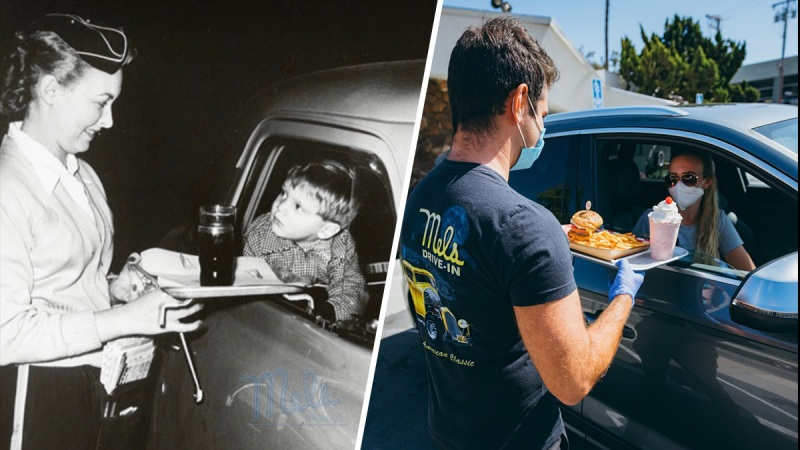 Then and Now: See Photos of the Carhop Service at Mel's Drive In
