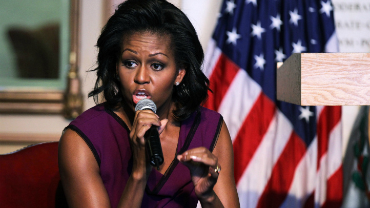 Michelle-Obama-Talks-to-High-School-Students-at-Georgetown-University