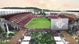 Rendering of SDSU Mission Valley Stadium Proposal