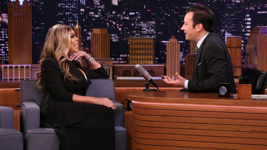 Talk show host Wendy Williams during an interview with host Jimmy Fallon on Jan. 23, 2020.