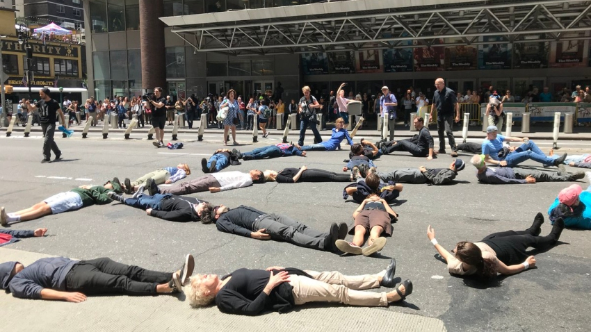 NYTimes building protest
