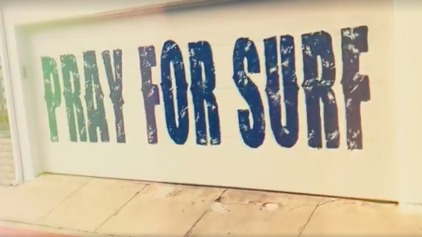 Pray for Surf mural in San Diego
