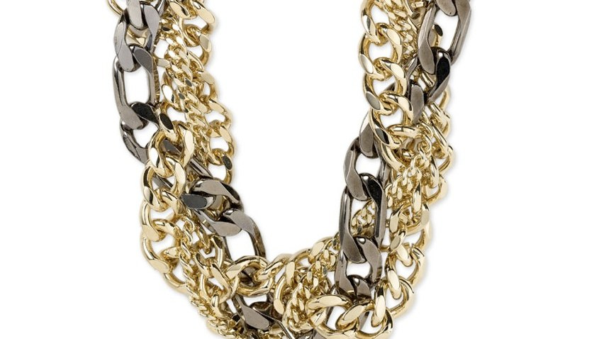 Nordstrom Braided Chain Necklace