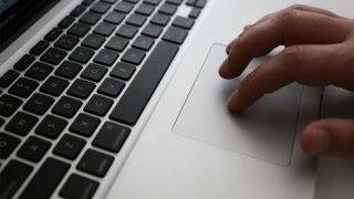 Online Computer Laptop Person Typing Generic