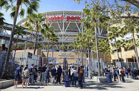 Padres Fans Enter Petco Park