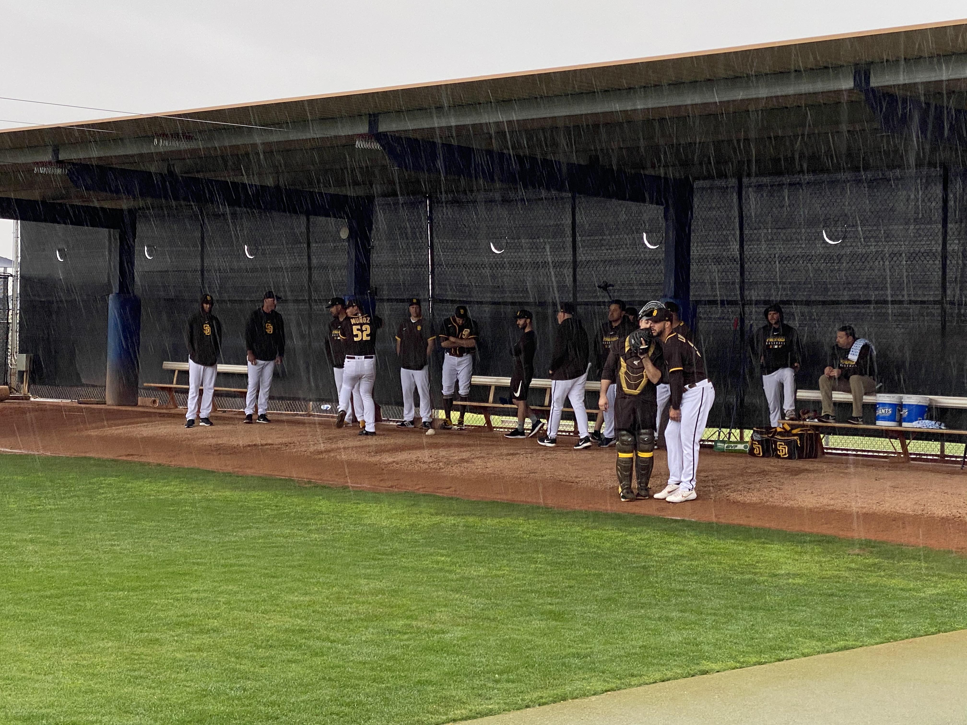 Rain Washes Away Padres Cactus League Opener