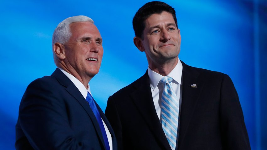 Mike Pence and Paul Ryan