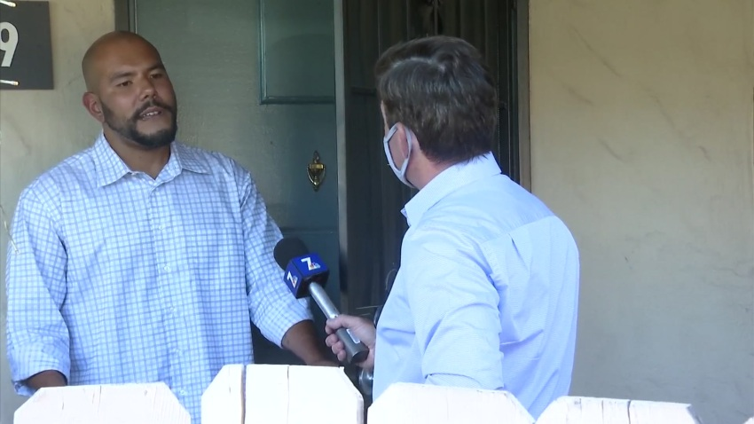 An Alpine man who flies a Nazi flag from his SUV speaks with NBC 7's Dave Summers.