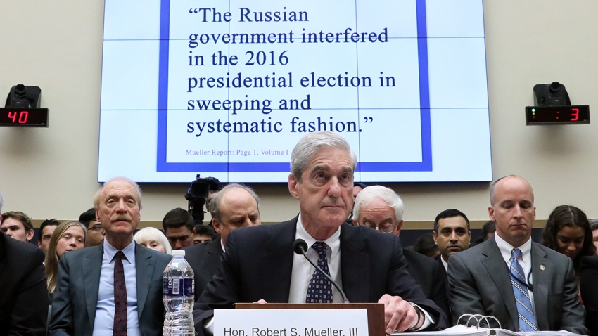 Former Special Counsel Robert Mueller testifies before a House Judiciary Committee hearing about his report on Russian interference in the 2016 presidential election in the Rayburn House Office Building, July 24, 2019, in Washington.