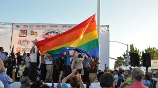 Raising of the Hillcrest Pride Flag - 2012