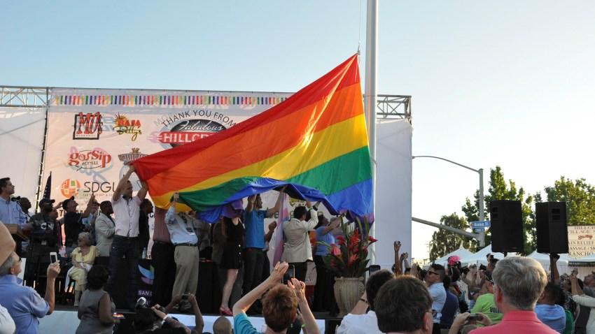 Raising of the Hillcrest Pride Flag - 2012