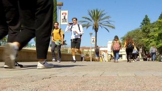 SDSU students walking