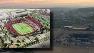 An image of what the San Diego State University stadium may look like upon completion.