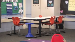 The special education classroom at Grace W. Perkins K-8 School was given new furniture thanks to a generous donation by the San Diego Harbor Police Department.
