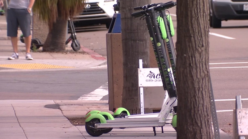 Scooters-in-Pacific-Beach