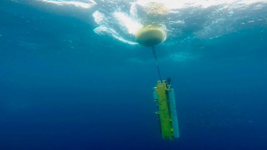 """Underwater view of the """"Wirewalker"""""""