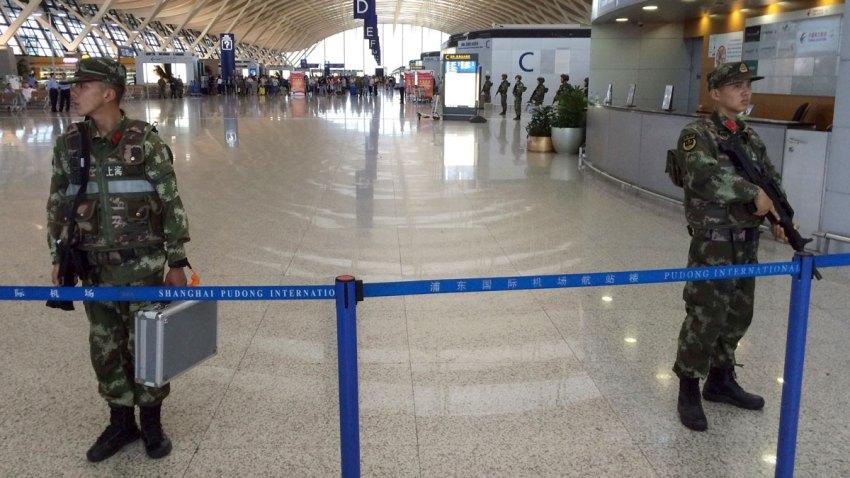 APTOPIX China Airport Explosion