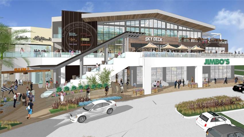 Rendering of expansion project at Del Mar Highlands Town Center
