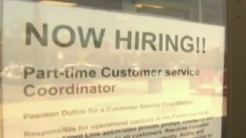 "A ""Now Hiring"" sign"