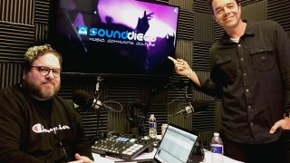 Drew Shirley (pictured, right) guests on Episode 9 of the SoundDiego Podcast