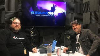 Eric Howarth (right) sits in on Episode 5 of the SoundDiego Podcast.
