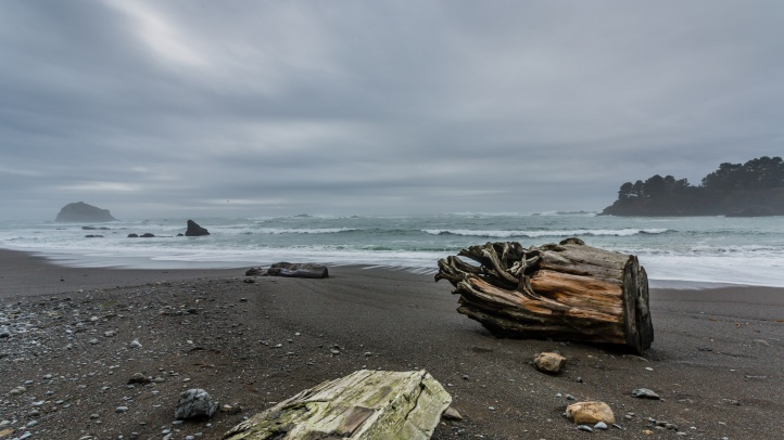 Stormy Day at Van Damme State Beach - SMALL - Photo by Brendan McGuigan