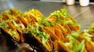 In this Oct. 15, 2015, file photo, tacos are on display during Tacos & Tequila presented by Mexico hosted by Aaron Sanchez during Food Network & Cooking Channel New York City Wine & Food Festival presented By FOOD & WINE at Urbo NYC in New York City.