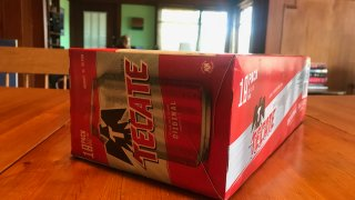 An 18-pack of Tecate