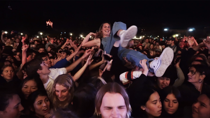 Frights fans turned the band's Balboa Park show into a frenzy.