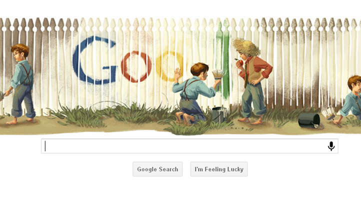 Tom Sawyer Google Doodle