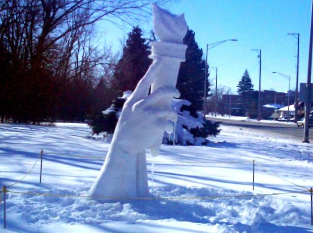 Torch Ice Sculpture p1