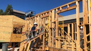 Future veteran homes under construction