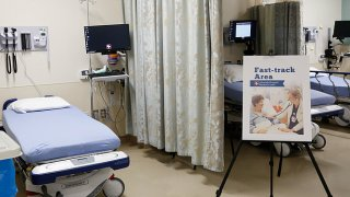 A fast-track emergency care section at Alvarado Hospital in San Diego.