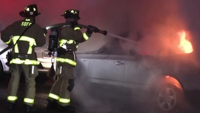 Bmw Mountain View Service >> Bmw Damaged By Fire In Mountain View Nbc 7 San Diego