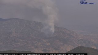 A fire near the Otay Open Space Preserve